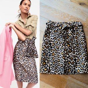 *Like New* J. Crew Leopard Tie Waist Skirt